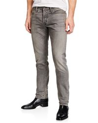 995a92c41a2b Tom Ford Straight-fit Faded Wash Denim Jeans in Gray for Men - Lyst