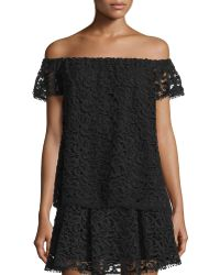Hiche - Off-the-shoulder Crochet-lace Top - Lyst