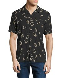 Neiman Marcus - Enlarged Animal-print Short-sleeve Sport Shirt - Lyst