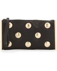 Cynthia Rowley - Luna Studded Leather Evening Clutch Bag - Lyst