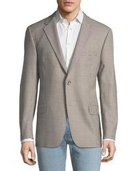 Hickey Freeman - Men's Fancy Wool Gingham Sport Coat - Lyst