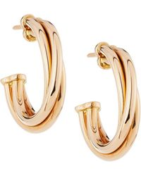 Roberto Coin - Classic 18k Rose Gold Half-hoop Earrings - Lyst
