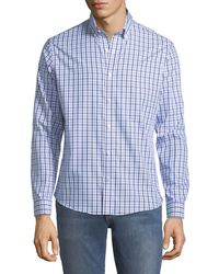 Neiman Marcus - Slim-fit Wear-it-out Check Sport Shirt - Lyst