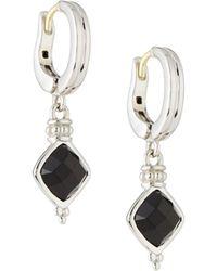 Judith Ripka - Cushion-cut Black Onyx Drop Earrings - Lyst