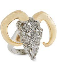 Alexis Bittar - Crystal Encrusted Ram Ring - Lyst