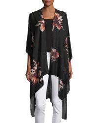 Raj - Floral-print Long Kimono - Lyst