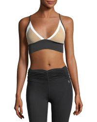 Body Language Sportswear - Taylor Top Colorblocked Performance Sports Bra - Lyst