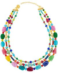 Jose & Maria Barrera - Triple-strand Bright Cloisonne Necklace - Lyst
