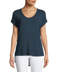 Dex - Chiffon-back Short-sleeve Tee - Lyst