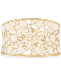 Roberto Coin - Bollicine 18k Enameled Yellow Gold Cuff W/ Diamonds - Lyst