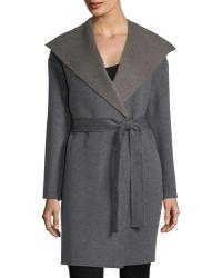 Fleurette - Cashmere-blend Double-face Hooded Wrap Coat - Lyst