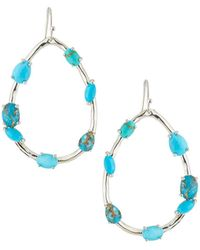 Ippolita - Rock Candy® Large Pear-shaped Earrings With Mixed Stones In Turquoise - Lyst