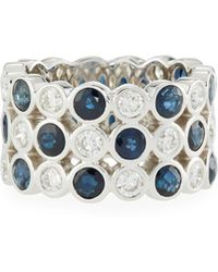 Neiman Marcus - 14k White Gold Two-tone Eternity Ring - Lyst