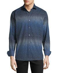 Bugatchi - Men's Classic-fit Geometric Woven Sport Shirt - Lyst
