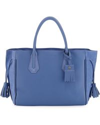 Longchamp - Penelope Medium Leather And Suede Tote Bag - Lyst