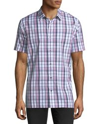Vince - Plaid Short-sleeve Shirt - Lyst