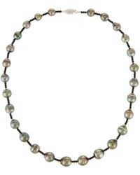 Belpearl - 14k Tahitian Pearl & Spinel Necklace - Lyst