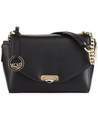 Versace - Medium Saffiano Leather Shoulder Bag - Lyst