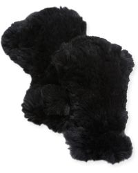 Adrienne Landau - Knit Rex Rabbit Fur Fingerless Gloves - Lyst