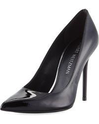 Stuart Weitzman - Nouveau Patent Leather Point-toe Pumps - Lyst