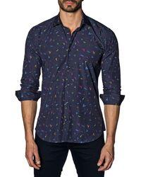 Jared Lang - Men's Semi-fitted Bird Print Sport Shirt - Lyst