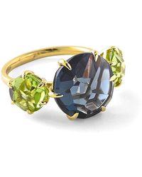 Ippolita - 18k Rock Candy® 3-stone Ring In London Blue Topaz & Peridot - Lyst