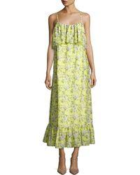 Robert Rodriguez - Floral-print Tiered Maxi Slip Dress - Lyst