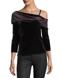 Waverly Grey - Margerie Velvet One-shoulder Top - Lyst