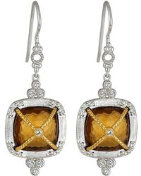 Jude Frances - Wrapped Cushion Citrine Dangle & Drop Earrings - Lyst
