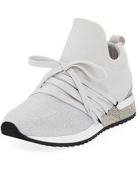 J/Slides - Zorro Metallic Knit Sneakers - Lyst