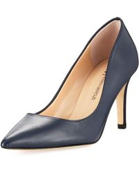 Neiman Marcus - Cissy Leather Pointed-toe Pump - Lyst