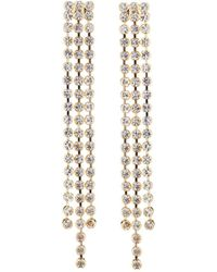 Fragments - Triple Crystal Dangle Earrings - Lyst