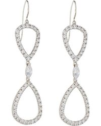 Fantasia by Deserio - Open Pear Cz Double-drop Earrings - Lyst