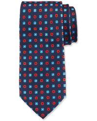 Duchamp Small Square Pattern Silk Tie