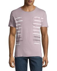 Antony Morato - Men's Striped Jersey Pocket T-shirt - Lyst