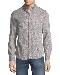 Ben Sherman - Micro-twill Floral Button-front Shirt - Lyst