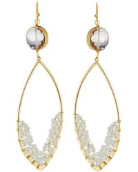 Panacea - Crystal Marquise Drop Earrings - Lyst