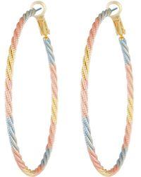 Fragments - Tricolor Twisted Hoop Earrings - Lyst
