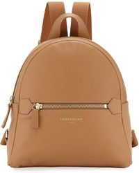 eff9160388a7 Longchamp 2.0 Small Leather Backpack in Black - Lyst