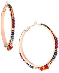 Nakamol - Multi-crystal Hoop Earrings - Lyst