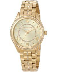 MICHAEL Michael Kors - 38mm Crystal Encrusted Bracelet Watch - Lyst