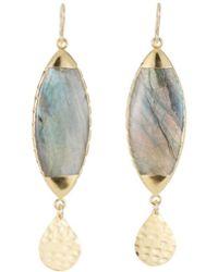 Devon Leigh - Labradorite Dangle Earrings - Lyst