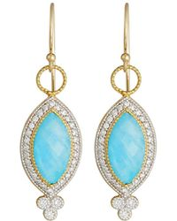 Jude Frances - 18k Provence Pave Diamond & Doublet Marquise Dangle & Drop Earrings - Lyst