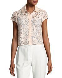 Nanette Nanette Lepore - Cap-sleeve Floral-lace Jacket - Lyst