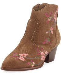 Ash - Heidi Suede Embroidered Boot - Lyst