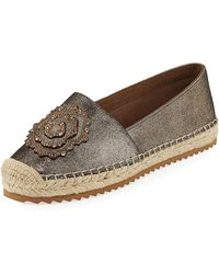 Karl Lagerfeld - Abby Embellished Suede Espadrilles - Lyst