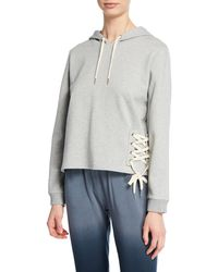 Threads For Thought - Leo Drawstring-detailed Hoodie - Lyst