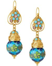 Jose & Maria Barrera - Cloisonné Bead Drop Earrings - Lyst