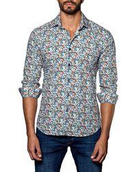 cf8c1b263718 Lyst - Black & Brown Linen Button Down Shirt in Blue for Men