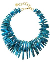 Nest - Jasper Spike Beaded Necklace - Lyst